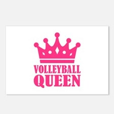 Volleyball queen crown Postcards (Package of 8)