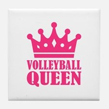 Volleyball queen crown Tile Coaster