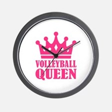 Volleyball queen crown Wall Clock