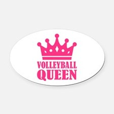 Volleyball queen crown Oval Car Magnet