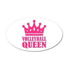 Volleyball queen crown 20x12 Oval Wall Decal