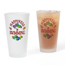 Happiness is Swimming Drinking Glass