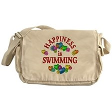 Happiness is Swimming Messenger Bag