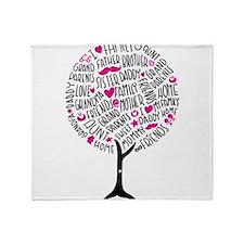 Family Tree Throw Blanket