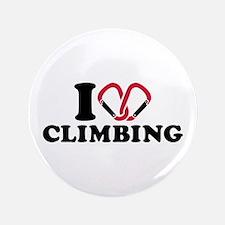 """I love Climbing carabiner 3.5"""" Button"""