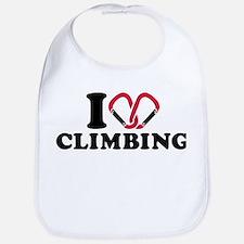 I love Climbing carabiner Bib