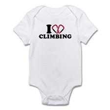 I love Climbing carabiner Infant Bodysuit
