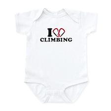 I love Climbing carabiner Onesie