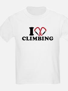 I love Climbing carabiner T-Shirt