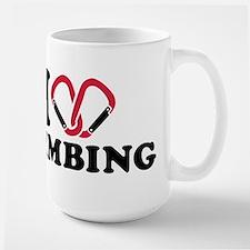 I love Climbing carabiner Large Mug