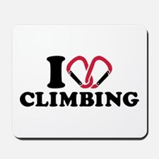I love Climbing carabiner Mousepad