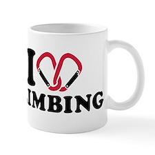 I love Climbing carabiner Small Mug