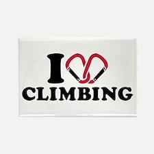 I love Climbing carabiner Rectangle Magnet