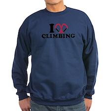 I love Climbing carabiner Sweatshirt
