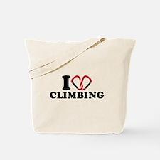 I love Climbing carabiner Tote Bag