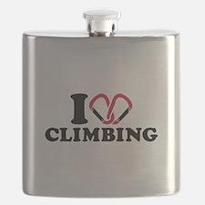 I love Climbing carabiner Flask