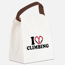 I love Climbing carabiner Canvas Lunch Bag