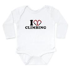 I love Climbing carabi Long Sleeve Infant Bodysuit