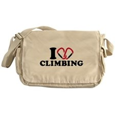 I love Climbing carabiner Messenger Bag