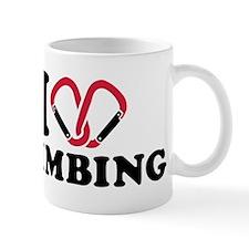 I love Climbing carabiner Mug