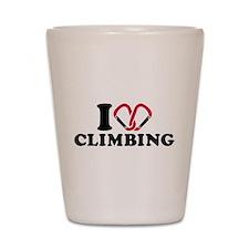 I love Climbing carabiner Shot Glass