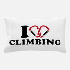 I love Climbing carabiner Pillow Case