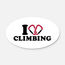 I love Climbing carabiner Oval Car Magnet