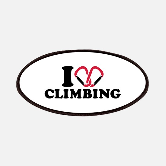 I love Climbing carabiner Patches