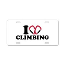 I love Climbing carabiner Aluminum License Plate