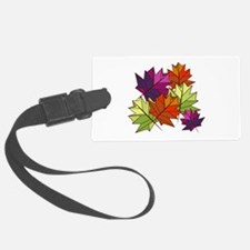 Colorful Leaves Luggage Tag