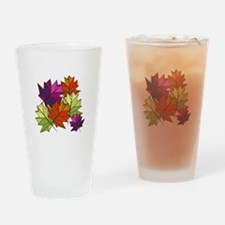 Colorful Leaves Drinking Glass