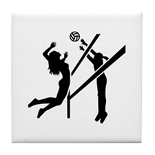 Volleyball girls Tile Coaster