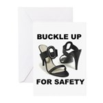 Buckle Up For Safety Greeting Cards (Pk of 10)
