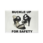 Buckle Up For Safety Rectangle Magnet (10 pack)
