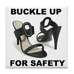 Buckle Up For Safety Tile Coaster