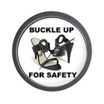 Buckle Up For Safety Wall Clock