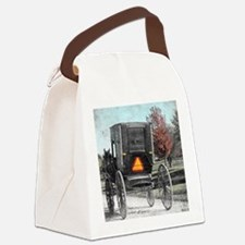 Amish Horse and Buggy Canvas Lunch Bag