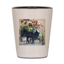 Amish Horse and Buggy Shot Glass