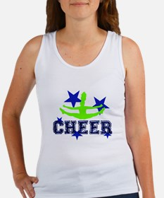 Blur and Green Cheerleader Tank Top