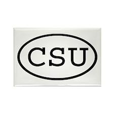CSU Oval Rectangle Magnet
