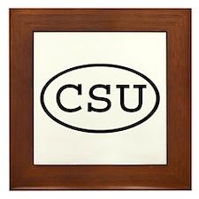 CSU Oval Framed Tile