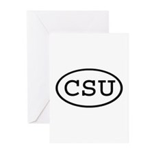 CSU Oval Greeting Cards (Pk of 10)