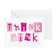 Think Pink Greeting Cards (Pk of 10)