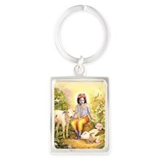 Krishna Attracts Everyoneportrait Keychains