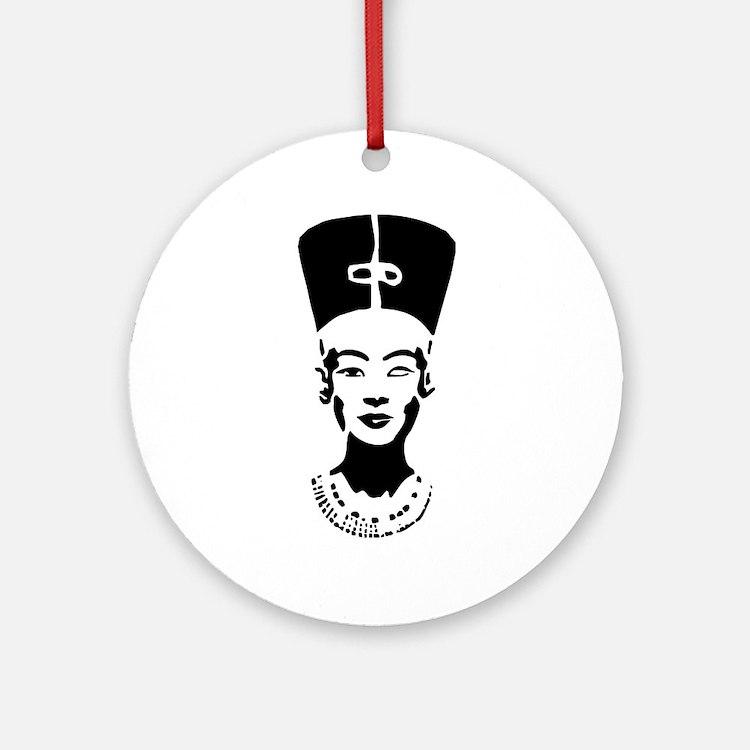Nefertiti - Right Eye Open Ornament (Round)