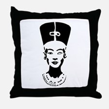 Nefertiti - Right Eye Open Throw Pillow