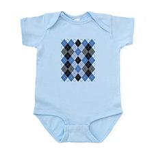 Blue Argyle Body Suit