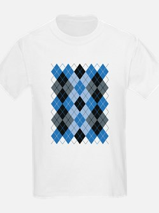 Blue Argyle T-Shirt