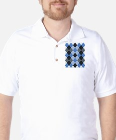 Blue Argyle T-Shirt