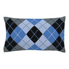 Blue Argyle Pillow Case